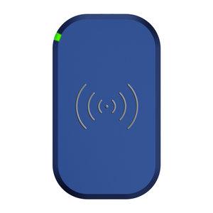 Choetech Chargeur sans fil pour smartphone Qi avec 3 bobines - 10W - Bleu