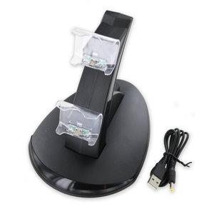 Station de charge avec éclairage LED pour deux manettes PS4