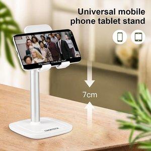 Choetech Kantelbare smartphone of tablet houder met aluminium legering - tot 10 inch - wit