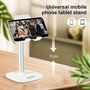 Choetech Tiltable smartphone or tablet holder with aluminum alloy - up to 10 inch - white