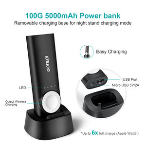 Choetech 2-in-1 Wireless Power Bank mit MFI für Apple Watch und Smarthone - 5000mAh