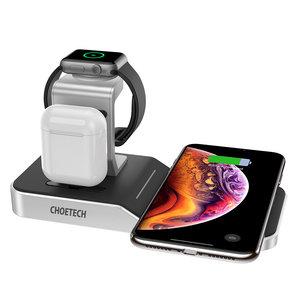 Choetech 4-in-1-Ladestation für Apple Watch / AirPods / Smartphone - MFi- und Qi-zertifiziert - zusätzlicher USB-A-Ausgang - 10 W.