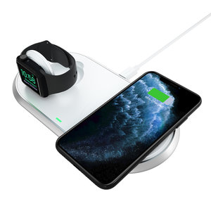 Choetech Station de charge 2 en 1 pour Apple Watch / AirPods / Smartphone - Certifiée MFi et Qi - 10W