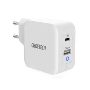 Choetech Dual GaN Netzteil USB-C / USB-A - Stromversorgung 65W