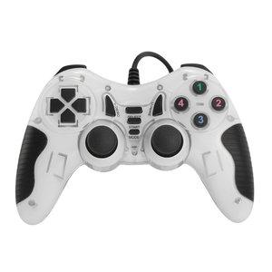 Dolphix Manette de jeu USB avec fil - pour PC - blanc