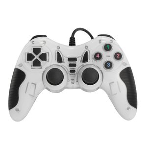 Dolphix USB-Gamecontroller mit Kabel - für PC - weiß