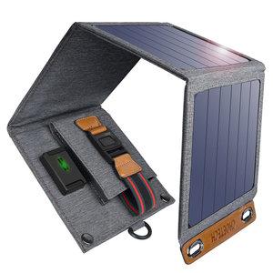 Choetech Faltbares Solarladegerät mit 4 Bedienfeldern - 1 USB-Ladeanschluss - 14 W - 2,4 A max