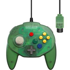 retro-bit Tribute Controller pour Nintendo 64 - filaire - Forest Green