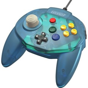 retro-bit Tribute Controller pour Nintendo 64 - filaire - Ocean Blue