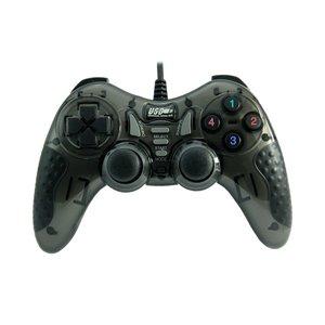 Dolphix USB-Gamecontroller mit Kabel - für PC - schwarz