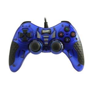 Dolphix Manette de jeu USB avec fil - pour PC - bleu