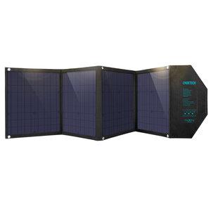 Choetech Chargeur solaire pliable avec 4 panneaux - USB-C PD, sortie DC, Quick Charge 3.0 - 80W.