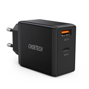 Choetech Dual USB stroomadapter met Quick Charge 3.0 en PD 3.0 - 36W