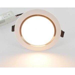 LED Downlight blanc chaud 9W y compris le conducteur