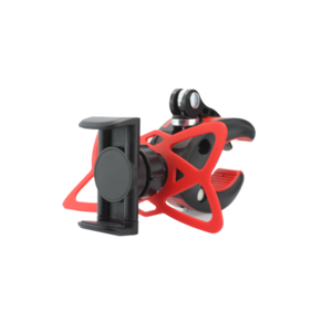 Telefonhalter für Fahrrad - geeignet von 50 bis 80 mm - rot