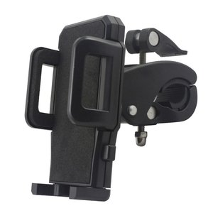 Phone holder for bicycle - 45 to 110 mm - black