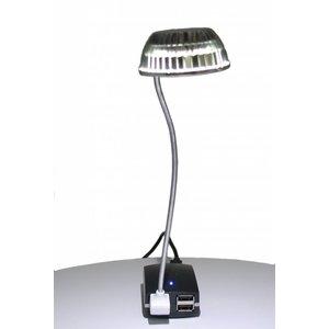 Mini lampe LED / liseuse USB - blanc brillant - câble spiralé