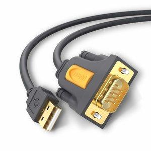 USB 2.0 zu RS-232 Serieller Kabeladapter - 9 Pins - 2 Meter