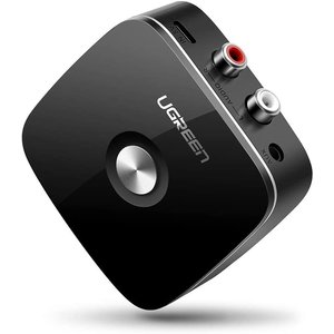 UGREEN Bluetooth 5.0 Audioempfänger - 3,5 mm Audio / 2 Cinch-Verbindung - 10 m Reichweite