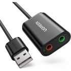 UGREEN Externe USB-Soundkarte für Kopfhörer und Mikrofon