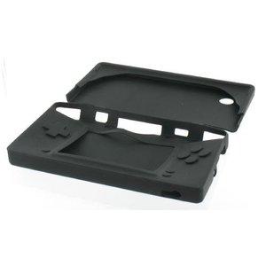 Étui de protection en silicone pour DSi, noir, boutons recouverts