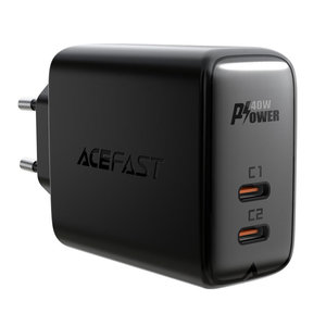 ACEFAST Dual USB-C stroomadapter met Fast Charge -  PD 3.0 - 40W