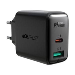 ACEFAST Adaptateur secteur USB-A et USB-C PD 3.0 - Charge rapide - 32W