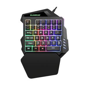 Gaming keyboard with RGB lighting - 35 keys - Multimedia keys - Ergonomic