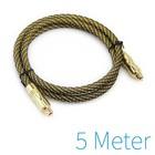 5m plaqué or de câble optique