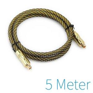 5m plaqué or câble optique Toslink