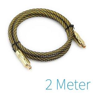 Plaqué or câble optique Toslink 2 mètres