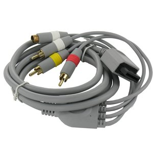 S-Video AV + RCA (composite) cable for Nintendo Wii 1.8m