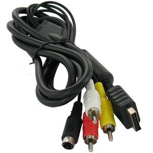 Câble S-Video + AV tulipe (composite) pour PS2 et PS3 1.8m
