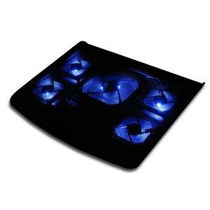Laptop-Kühler mit fünf Ventilatoren und blauem LED-Licht