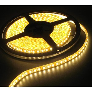 Warm White 5 Meter 120 LED 12 Volt orange PCB