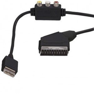 Scart cable with RCA Composite for PS1 / PS2 / PS3 1.8m