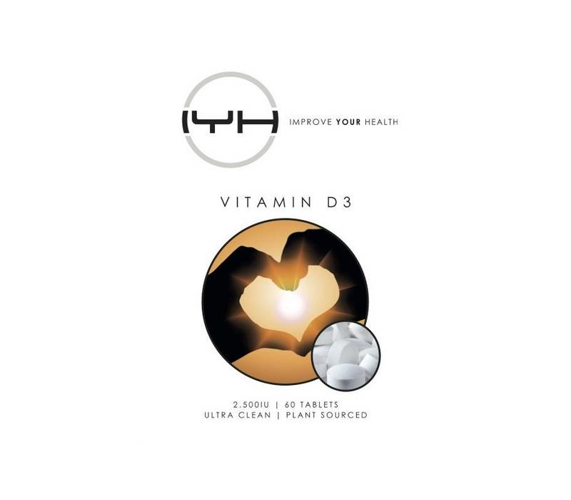 Vitamine D3 2.500IU 60 vegan tabs - Improve Your Health