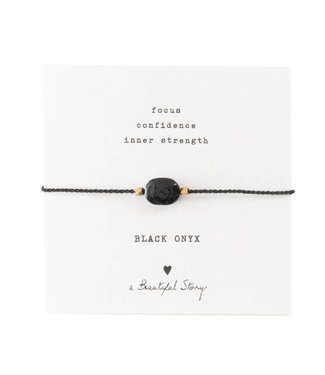 A BEAUTIFUL STORY •• Gemstone Card Black Onyx