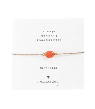 A BEAUTIFUL STORY Gemstone Card Carnelian