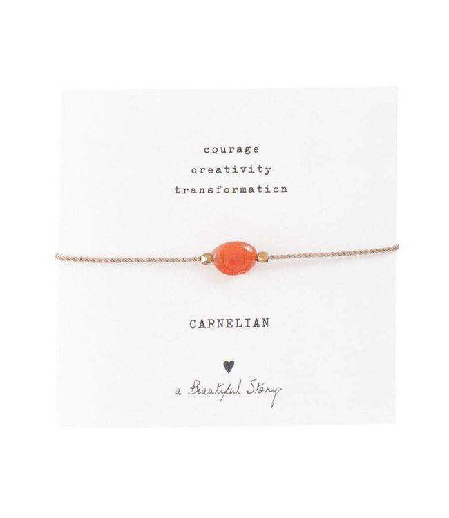 A BEAUTIFUL STORY Gemstone Card Carnelian
