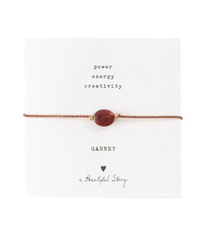 A BEAUTIFUL STORY Gemstone Card Garnet