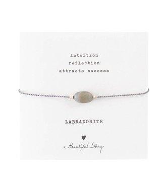 A BEAUTIFUL STORY Gemstone Card Labradorite
