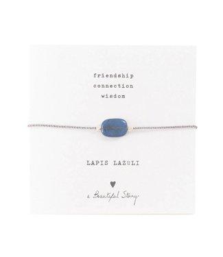 A BEAUTIFUL STORY Gemstone Card Lapis Lazuli