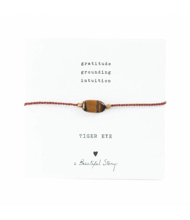 A BEAUTIFUL STORY Gemstone Card Tiger Eye