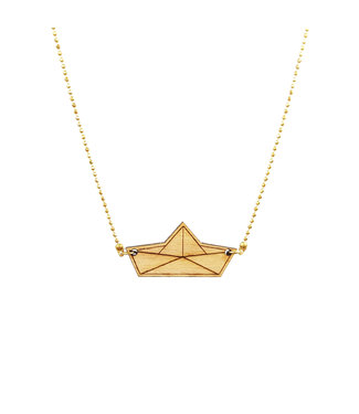 ALL THINGS WE LIKE Wooden Origami Boat