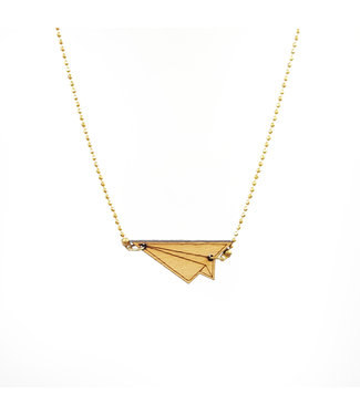 ALL THINGS WE LIKE Wooden Origami Plane