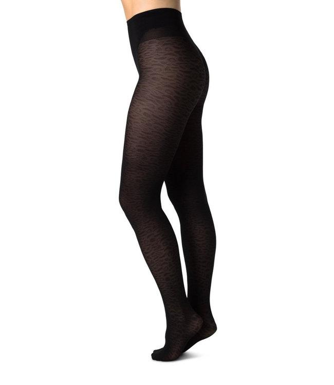SWEDISH STOCKINGS Panty Emma Leopard Black