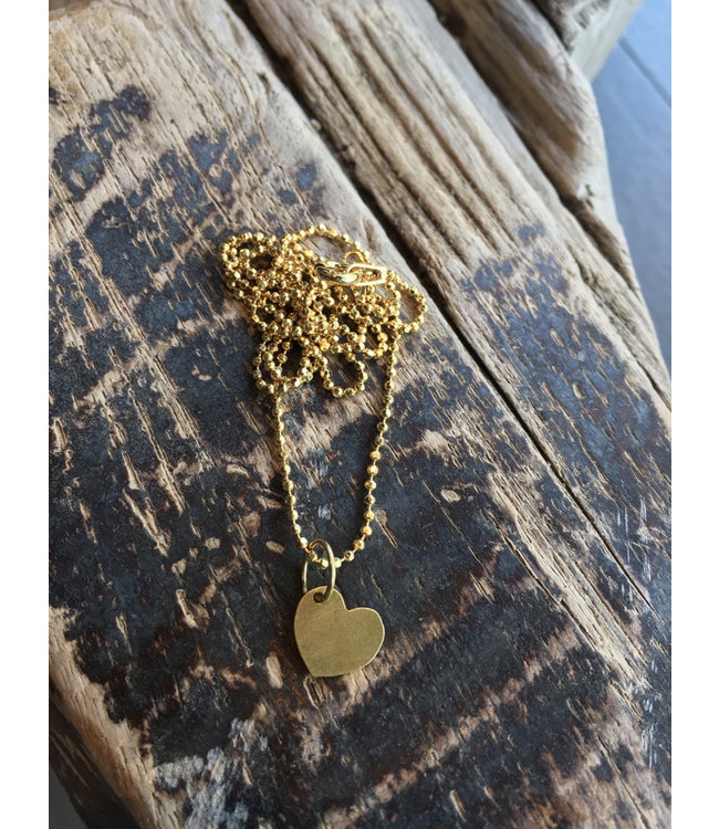 ALL THINGS WE LIKE Heart Golden Neckclace | ALL THINGS WE LIKE