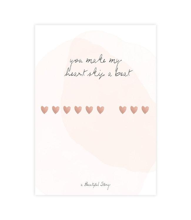 A BEAUTIFUL STORY Postcard Heartbeats
