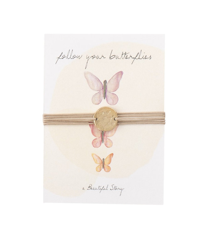 A BEAUTIFUL STORY Jewelry Postcard Butterflies